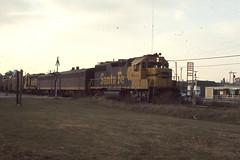 Santa Fe GP39-2 #3660 in Kentland IN on 11-2-76 (LE_Irvin) Tags: gp392 kentlandin santafe