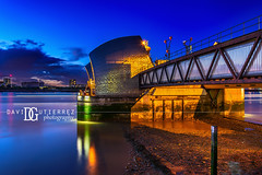 Thames Barrier (II), London, UK (davidgutierrez.co.uk) Tags: london photography davidgutierrezphotography city art architecture nikond810 nikon urban travel color night blue uk londonphotographer photographer england unitedkingdom europe beautiful cityscape davidgutierrez britain greatbritain d810 street arts summer skyline buildings nikon2485mmf3545gedvrafsnikkor nikon2485mm iconic landmark people property 伦敦 londyn ロンドン 런던 лондон londres londra capital structure building river riverthames lowtide colors colourful colours colour streets attraction thames thamesriver eastlondon silvertown industrialiseddistrict bluehour twilight dusk lights light reflection longexposure thamesbarrier floodbarrier newcharlton contemporary modern