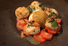 Seared Scallops (Tony Worrall) Tags: add tag ©2017tonyworrall images photos photograff things uk england food foodie grub eat eaten taste tasty cook cooked iatethis foodporn foodpictures picturesoffood dish dishes menu plate plated made ingrediants nice flavour foodophile x yummy make tasted meal nutritional freshtaste foodstuff cuisine nourishment nutriments provisions ration refreshment store sustenance fare foodstuffs meals snacks bites chow cookery diet eatable fodder pan fried scallop seared scallops