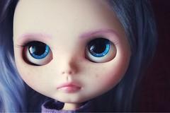 AGATHA (_danie11e_) Tags: blythe doll ooak custom purple hair lilac fa art girl