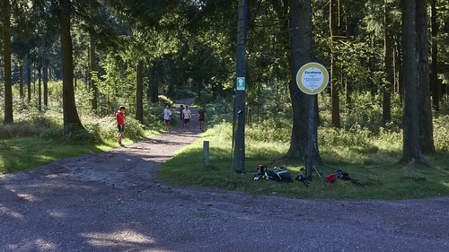 Auf dem Weg zum Rennsteiggarten: Biathleten