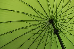 Green umbrella... (zapperthesnapper) Tags: umbrella sunumbrella green greenumbrella sonyrx100 sonyimages sonycybershot abstract sony minimalist minimalistic minimalism minimal