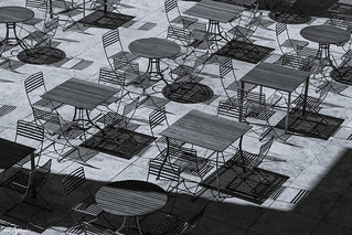 Tables and Chairs Monochrome