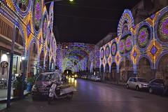 Luminarie in via Papireto (costagar51) Tags: palermo sicilia sicily italia italy arte storia folklore anticando