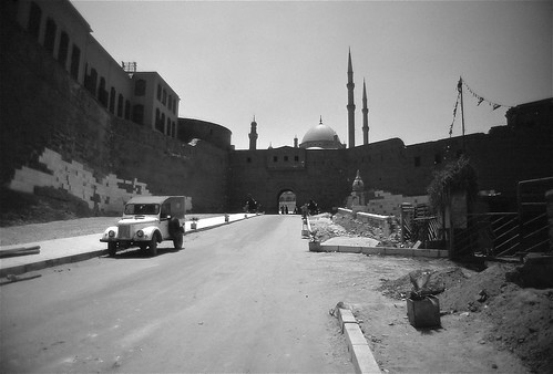 Gate of the Citadel with the Mosque of Muhammad Ali ...