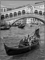 Untitled Venice (JDWCurtis) Tags: venice venetian venezia italy italian water waterway waterfront bridge footbridge boat boating gondoleer gondola tourism tourist tourists holiday solo solotraveller soloholiday blackwhite bw