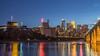 Minneapolis on the Mississippi (jrzabanal) Tags: minneapolis skyline minnesota cityscape downtown longexposure city mississippi stonearchbridge canon