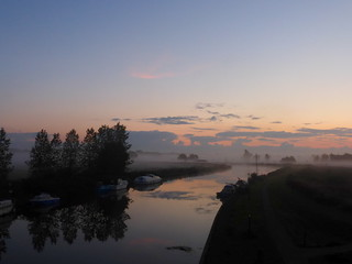 The River Waveney in early morning mist