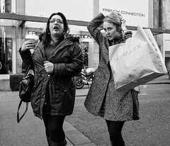 Manchester 068 (Peter.Bartlett) Tags: manchester ricohgr noiretblanc women shopfront unitedkingdom people facade urbanarte candid lunaphoto walking girl urban monochrome uk streetphotography woman bag bw niksilverefex sign blackandwhite peterbartlett city england gb