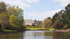 sheffield park house (fredbell2) Tags: landscape park sussex britain nationaltrust sheffieldpark gardens colourful waterscape trees statelyhome manorhouse british plants sky
