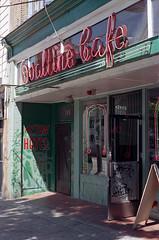 Ovaltine Cafe (Orion Alexis) Tags: film 35mm analog kodak ektar 100 cafe urban gritty street vancouver nikon fe 50mm neon sign old heritage vintage antique historic