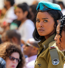 Second Lieutenant peppers lonely hearts club band (ybiberman) Tags: israel jerusalem woman maiden soldier officer secondlieutenant artillerycorps portrait candid streetphotography