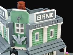 Brick Bank (Disco86) Tags: lego moc modular western wild west brick bank cowboy cactus sand green