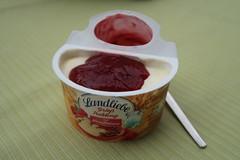 Grießpudding mit Himbeeren (von Landliebe) (multipel_bleiben) Tags: essen fertigprodukt zugastbeifreunden obst sose pudding