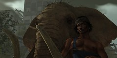 The gentle mahout [The Salted Ruins] (Benny_Green) Tags: sl secondlife srilanka elephant mahout gentle bindi hindu hinduism tradition family animal husbandry trainer keeper life bonded