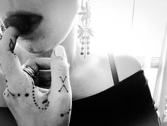 Raspberry fields forever (doubleshotblog) Tags: soseductive iphone frontcamera doubleshotblog doubleshot sydney handtattoo henna tattoo sensual selfie thisisme blackandwhite selfportrait seduction raspberries