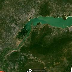 Parte do Reservatório de Sobradinho (barragem / dam), no Rio São Francisco, Remanso/BA (outra imagem 8) (Coordenação-Geral de Observação da Terra/INPE ) Tags: sobradinho riosãofrancisco remanso bahia brasil brazil cbers4 mux inpe