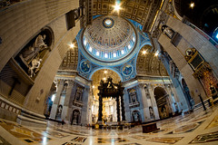 St. Peter's Basilica (sabrandt) Tags: europe italy rome stpetersbasilica vatican fisheye rokinon 8mm wideangle