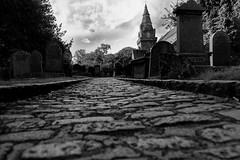 The Final Path B-W (A.R. Live) Tags: stmachar graves cathedral aberdeen oldaberdeen cobbles churchyard spooky thefinalpath headstones