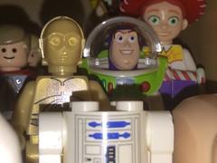 C-3PO, Buzz Lightyear and Headless R2-D2 (splinky9000) Tags: kingston ontario toys lego minifigures star wars disney pixar toy story buzz lightyear c3po r2d2