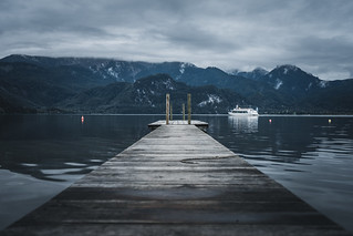 Plank at lake Kochelsee