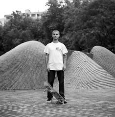Enzo (Hugo Bernatas) Tags: portrait enzo hasselblad 500cm blackandwhite street natural light skateboard lille analog 120 film kodak 400tx