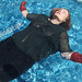 Playing in the Pool in Boots & Leather