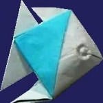 Simple Origami Fish. Folding Instructions