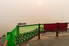 Varanasi | 2015. (Vijayaraj PS) Tags: nikon varanasi kasi india heritage hindu hinduism ganga ganges water incredibleindia light travelphotography outdoor ghats asia jump indianboy sunlight dawn travel boats saree womensaree