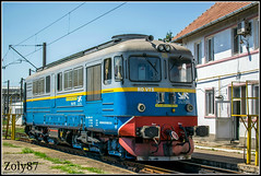 99-53-0-60-1644-3 (Zoly060-DA) Tags: romania dej triaj cfr marfa depot electroputere craiova co 2100 hp diesel locomotive swiss brown boveri license building freight 60 1644 private operator via terra red blue yellow grey green balck white stabled classic paint scheme lines rails sky