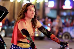 Wonder Woman Pedicab (dangaken) Tags: chicago chicagoil il illinois windycity cityofbroadshoulders summerinchicago summerinthecity september2017 chitown chi usa midwest lakeview centrallakeview cubs chicagocubs cubsvcardinals stlouiscardinals wrigley wrigleyfield baseball mlb nlcentral pennantrace majorleaguebaseball sport stadium ballpark rivals rivalry chicubs nationalleague sweep wrigleyfieldbleachers bleachercreatures bleachers bleacherseats centerfieldbleachers fans pedicab wrigleyville chicagonightlife chicagobarscene nightout woman wonderwoman bra topless brunette muffintop bike biker addisonst clarkst