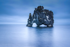 lonely in the night,  in the day too (Smo_Q) Tags: iceland ocean rock pentaxk3ii tide hvítserkur