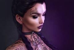 Lila Mila (miiane SL ( MILA . POSES )) Tags: milaposes mila secondlife second life face tattoo catwa tattoos