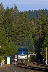 Amtrak 5 (caltrain927) Tags: union pacific railroad amtrak california zephyr passenger train ge p42dc gold run ca