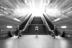 self portrait (Duke.Box) Tags: nikon nikond600 ueberseeboulevard blackandwhite schwarzweiss schwarzweis bahnhof streetphotography tamron tamron1530mmf28 tamron1530mm tamronsp1530mm28divcusd treppe rolltreppen licht