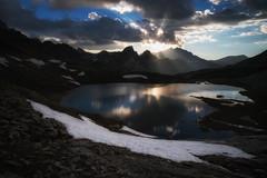 # Quand Dieu me fait signe # (Thomas Vanderheyden) Tags: alpes alps ciel cloud france fujifilm lac lake landscape light lumiere montagne mountain paysage ubaye xt1 dieu god nuage sky nature beautifulearth