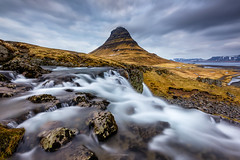 Call of a Dreamer (CResende) Tags: progrey sunrise dreamer call landscape iceland niceland kirkufell d810 1424 flow le longexposure water river motion clouds color travel mountains valley peak scenery hillside sky