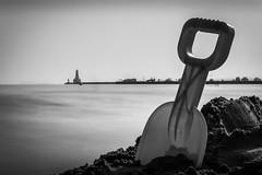 Cobourg impression (Sean X. Liu) Tags: blackandwhite blackwhite monochrome longexposure beach cobourg ontario canada
