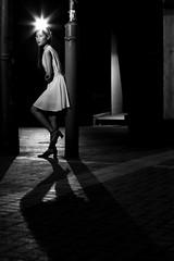 Night Portrait (Wilson Au | 一期一会) Tags: hongkong night street portrait eos5dmarkiii ef50mmf12lusm canon monochrome blackandwhite lady