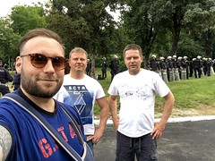 Its only 1km between the stadiums of FC Red Star and Partizan in Belgrade. Thats why the security in the back!