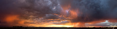 Dramatic skies (Squirrel Girl cbk) Tags: 2017 albuquerque august clouds sunset drama storm orange sky weather