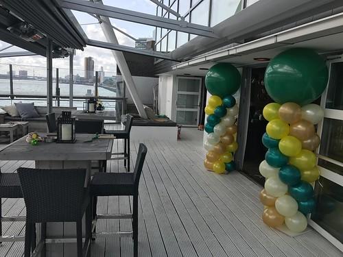 Ballonpilaar Eau de Lounge Rotterdam