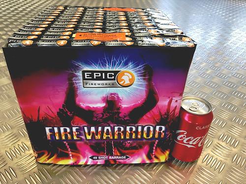 Fire Warrior 49 Shot 1.3G Firework Cake #EpicFireworks