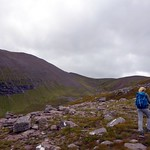 On the way up An Teallach, with Glas Mheall Mor on the left thumbnail