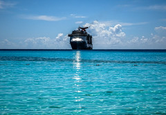 sun glare (-gregg-) Tags: cruise ship water clouds vacation