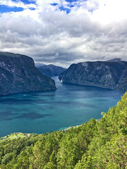 Aurland Stegastein (nilssonmo) Tags: fjord norway norge stegastein aurlandvagnen aurland nature mountain water sea cloud