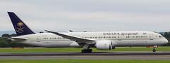 Saudi B787 HZ-ARF (megatroncox) Tags: saudia saudi arabia riyadh manchester departure runway airplane aircraft dreamliner boeing b787