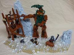 Ent Attack! (Elven Ranger) Tags: lego lotr isengard saruman orcs ents battle ruin flood