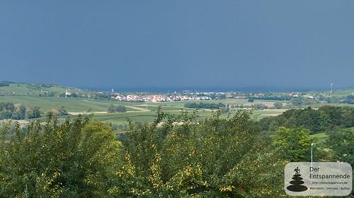 Wetterfront hinter Harxheim, im Rhein-Main-Gebiet