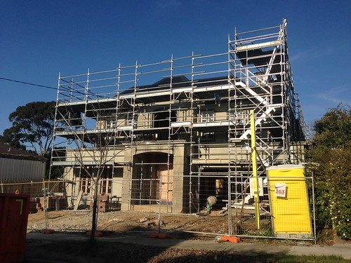 McMansion under construction, North Balwyn